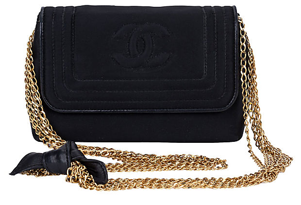 Chanel Black Silk Multi-Chain Bag