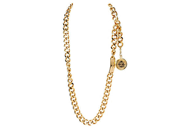 Chanel Name Plate Chain Belt/Necklace