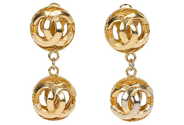 1970s Chanel Sphere Dangle Earrings