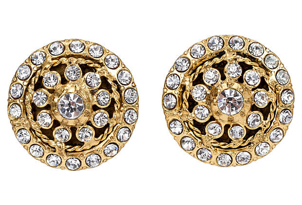 1970s Chanel Rhinestone Earrings