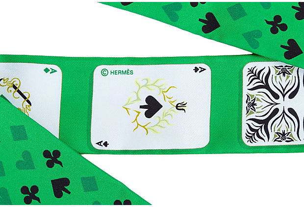 Hermès Emerald Jeu de Cartes Twilly