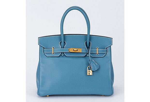 Hermes Blue Jean Birkin 30 Courchevel