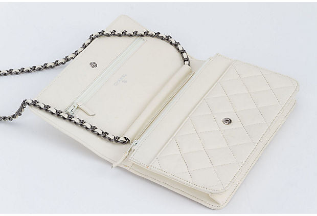 Chanel Reissue White Wallet On A Chain