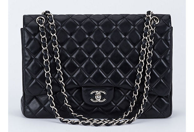 85f0ca2b1160 Chanel Black Maxi Single Classic Flap