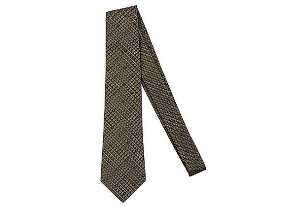 Chanel Black & Gold Silk Tie