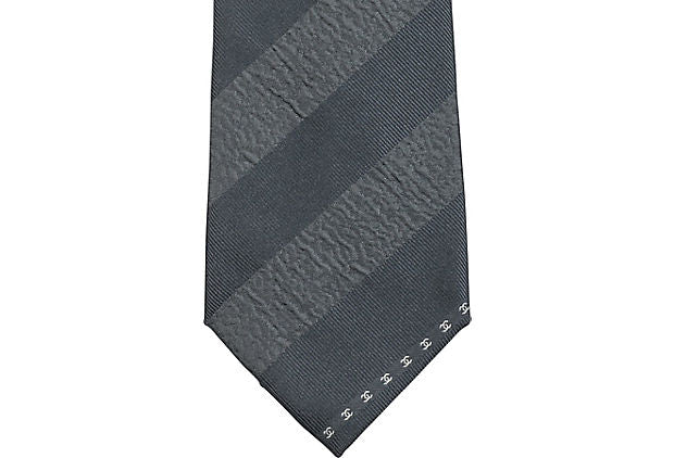 Chanel Striped Silk Tie