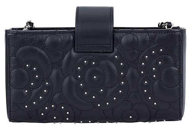 Chanel Camellia Studded Cross-Body Bag