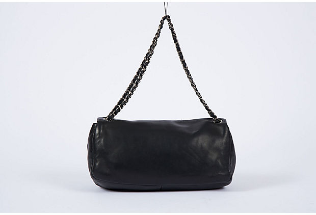 Chanel Mirror Patch Black Flap Bag
