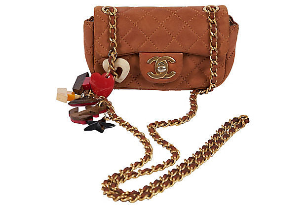Chanel Lim. Ed. Camel Charm Mini Bag