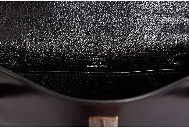 Hermès Black Box Calf Kelly Pochette