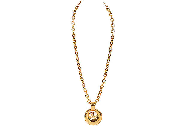 Chanel Door Knocker Pendant Necklace
