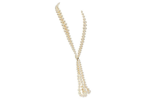 Chanel Two-Strand Faux-Pearl Necklace