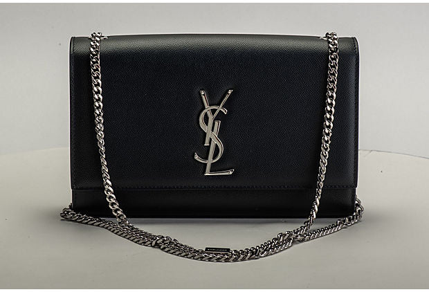 YSL New Navy Blue Kate Cross Body Bag