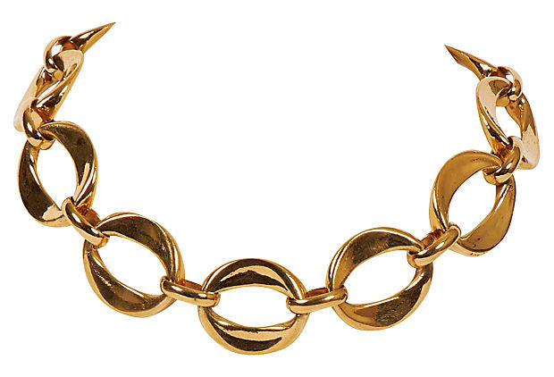 1970s Chanel Oversize Links Choker