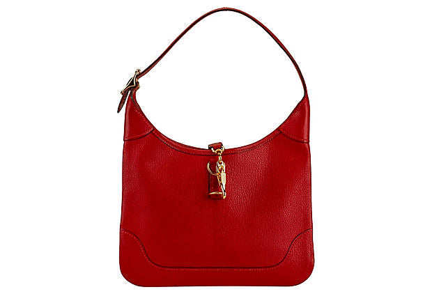 Hermès Red Chevre Mini Trim Bag