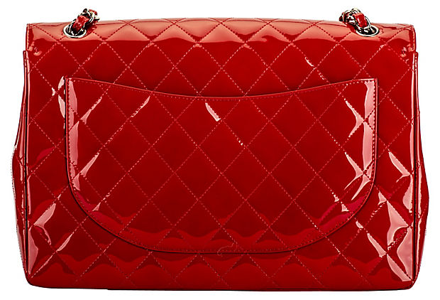 Chanel Red Patent Maxi Flap