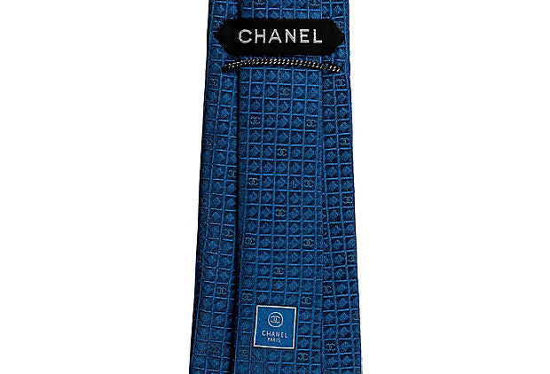 Chanel New Geometric Blue Silk Tie