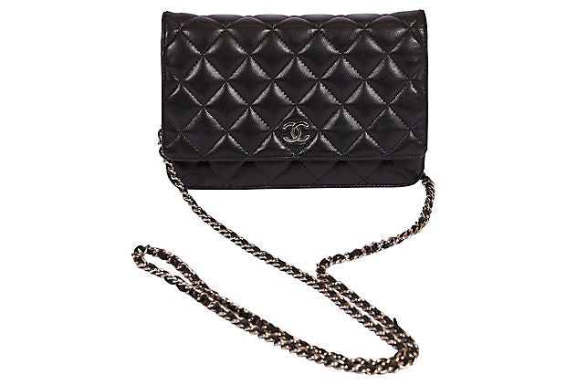 Chanel Black Lambskin Crossbody Woc