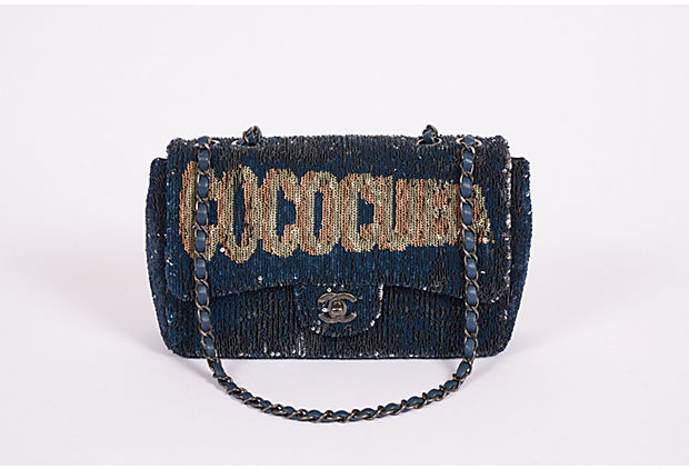 Chanel Mint Coco Cuba Sequins Bag Blue