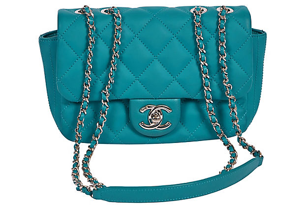 Chanel Teal PVC Rain Cover Small Flap
