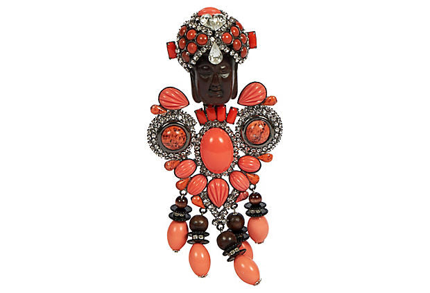 Vrba Coral One Of A Kind Maharaja Brooch