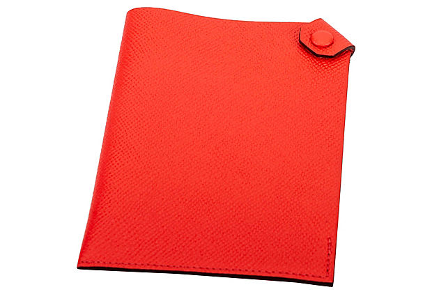 Hermes Rouge Pivoine Passport Cover