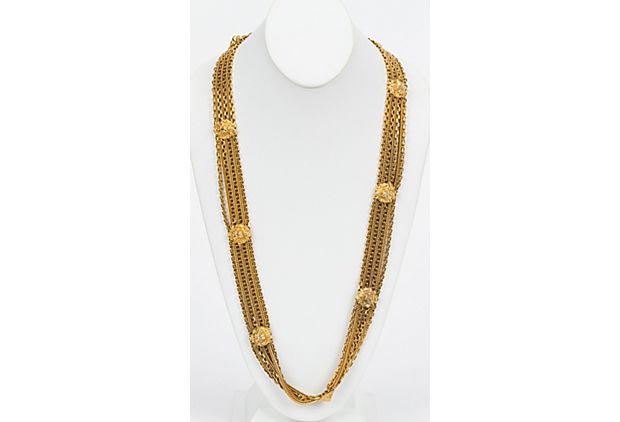 Chanel 80s Gold Lionshead Necklace/Belt
