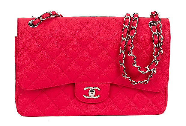 Chanel Coral Caviar Jumbo Double Flap