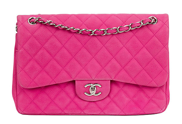 Chanel Hot Pink Caviar Double Flap Bag
