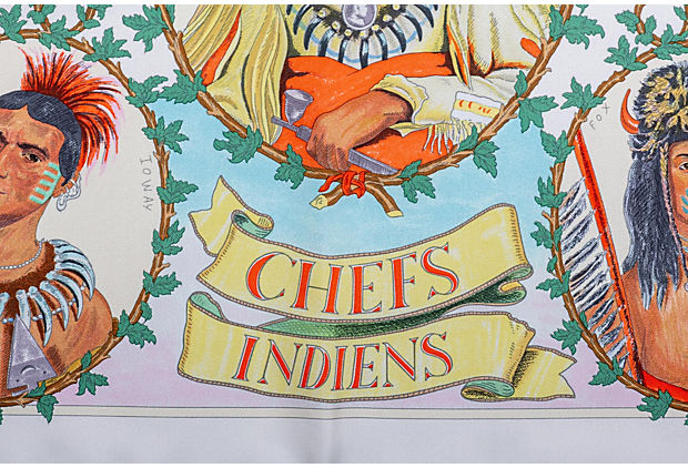 Hermès Chefs Indiens Scarf by Oliver