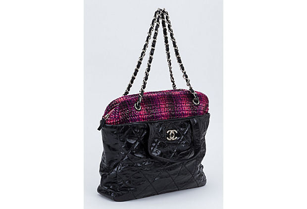 Chanel Black & Pink Large Shoulder Bag