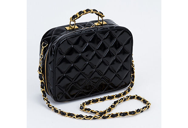 Chanel Iconic Black Patent Hard Case Bag