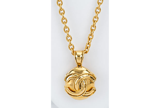 Chanel Round Logo CC Pendant Necklace