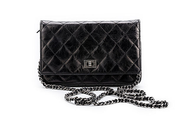 Chanel Reissue Black Wallet On A Chain