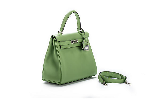 Hermes Kelly 25 Vert Criquet Swift