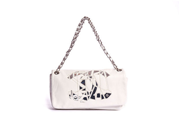 Chanel White Mirror Mosaic Handbag