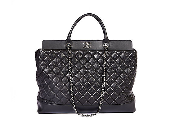 Chanel New Oversize 2 Way City Bag Black