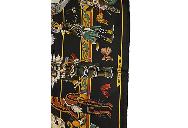 Hermès Kachinas by Oliver Silk Scarf