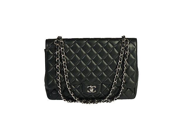 Chanel Black Caviar Maxi Single Flap