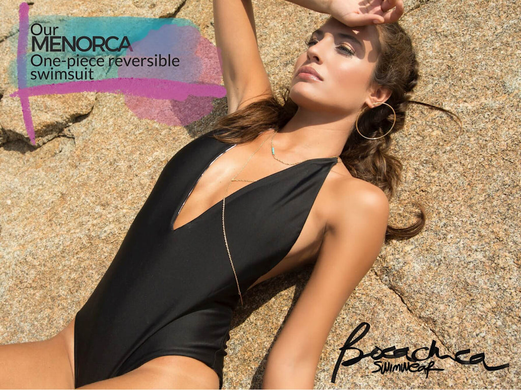 Brand made in spain from barcelona swimwear bikini designer catalina villarreal bocachica swimwear reversible summer trends fashion celebrity style