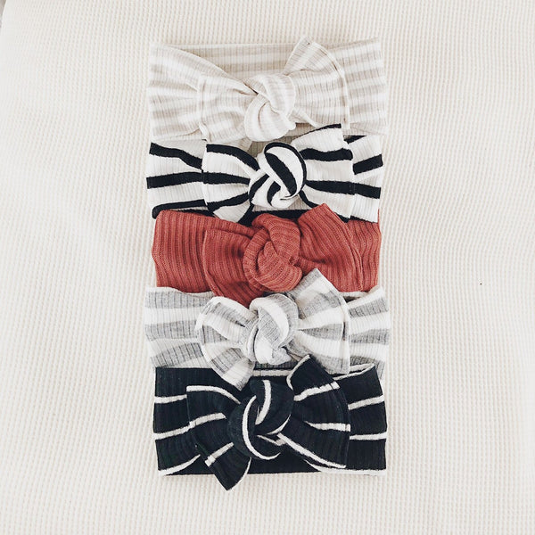 Tie on / Cream stripe