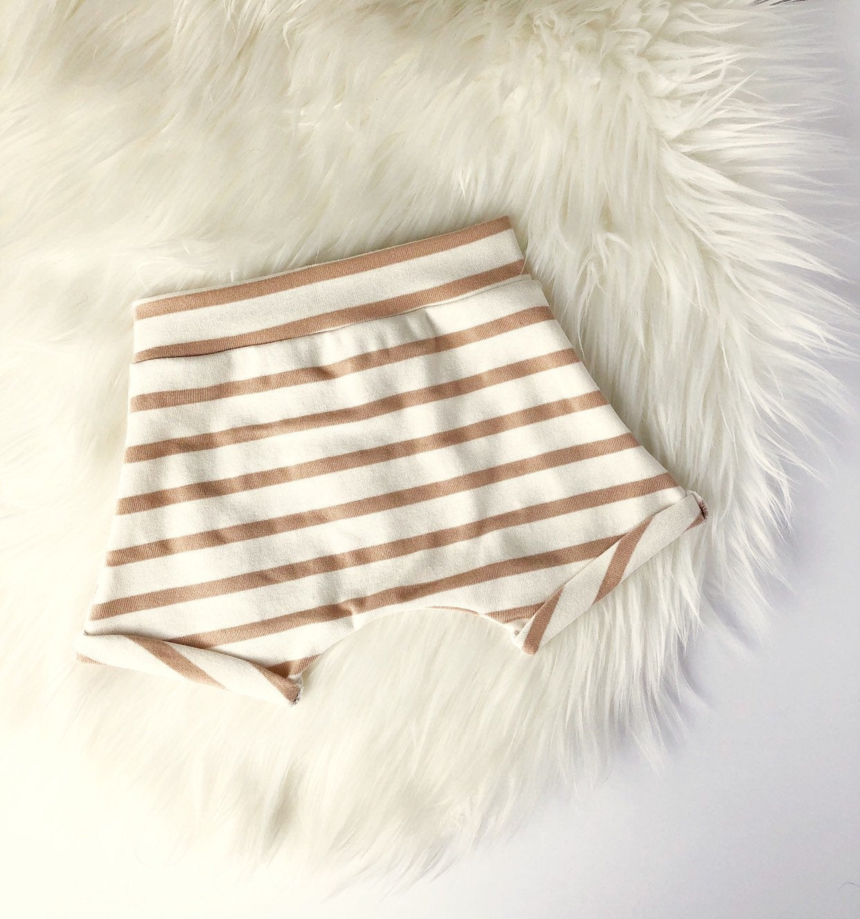 Harem shorties / Tan stripe