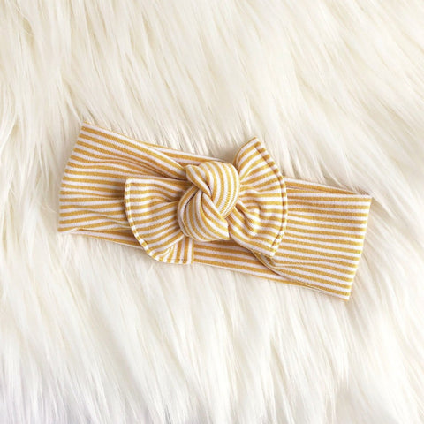 Tie on / Mustard stripe