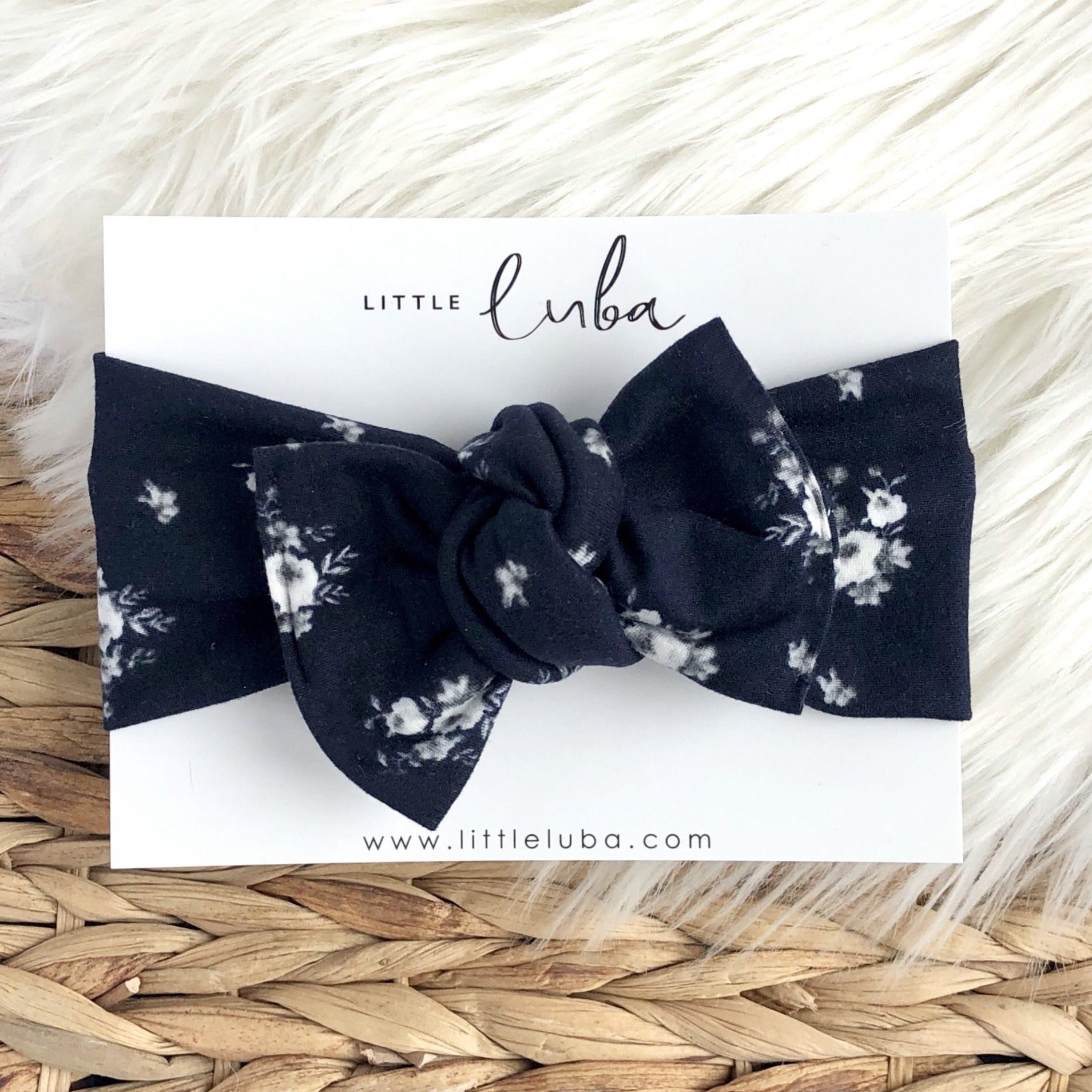 Tie on / Midnight floral
