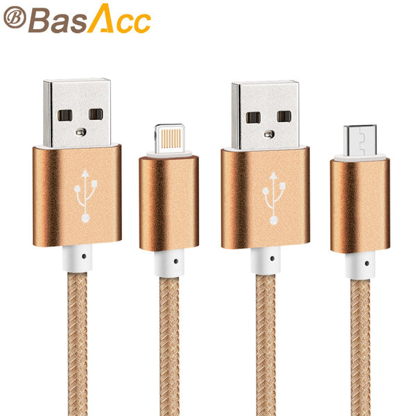 2015 Newest Colorful Nylon Line and Metal Plug Micro USB Cable for iPhone 6 6s Plus 5s iPadmini / Samsung / Sony / Xiaomi / HTC