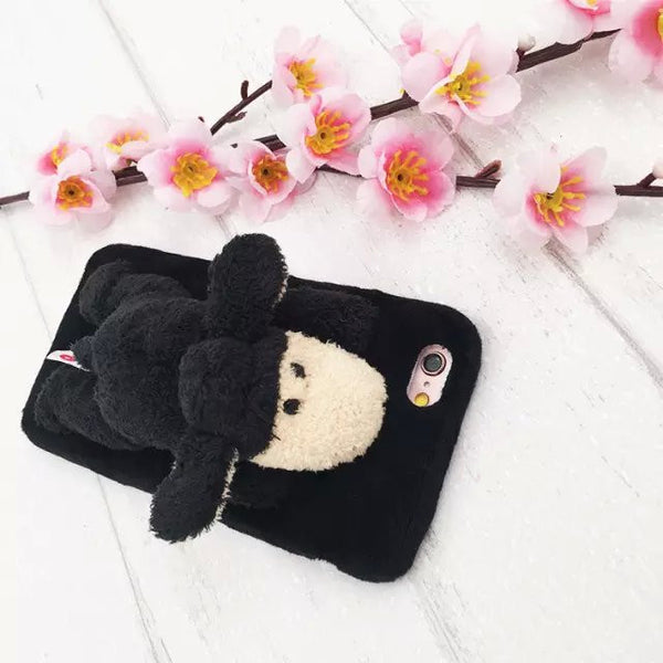 "Cute doll toy smartphone cases soft plush fur phone cases lion/sheep/giraffe cover for iphone 6 6s 5 5s 4.7"" 6 plus 6splus 5.5"""