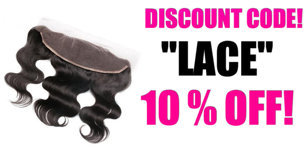 Brazilian Hair Lace Frontal Closure - FREE SHIPPING