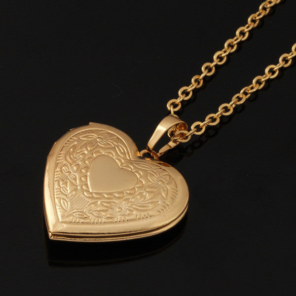 18k real goldplatinum plated heart locket necklace tg products 18k real goldplatinum plated heart locket necklace aloadofball