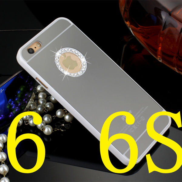 Luxury Diamonds Mirror case for iphone 4 4s 5 5s 6 & 6 plus