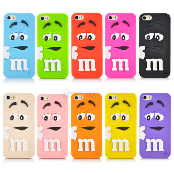 M&M Chocolate colorful Rainbow phone case For iphone 5 5s